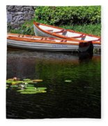 Wooden Rowboats Fleece Blanket