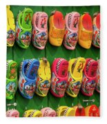 Wooden Shoes From Amsterdam Fleece Blanket