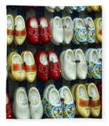 Wooden Shoes Fleece Blanket