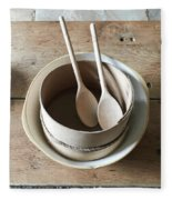Wooden Spoons Fleece Blanket