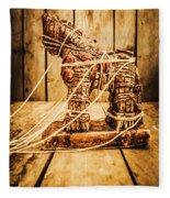 Wooden Trojan Horse Fleece Blanket