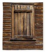 Wooden Window Fleece Blanket