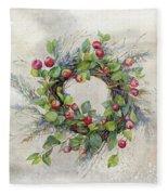 Woodland Berry Wreath Fleece Blanket