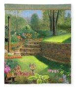 Woodland Garden In A Small Town Fleece Blanket