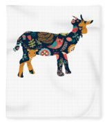 Woodland Goat Fleece Blanket