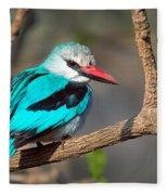 Woodland Kingfisher Halcyon Fleece Blanket