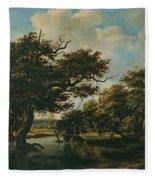 Woodland Pond Fleece Blanket
