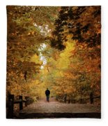 Woodland Promenade Fleece Blanket