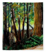 Woodland Trail Fleece Blanket