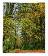Woodland Walks #1 Fleece Blanket