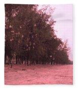 Woodlands At The Beach Fleece Blanket
