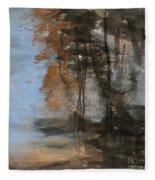 Woodlands At The Lake Fleece Blanket