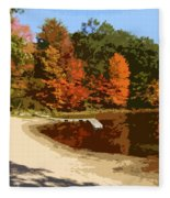 Woodlands On The Lake Fleece Blanket