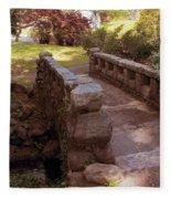 Woodlawn Footbridge Fleece Blanket