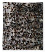 Woodpecker Holes In The Apple Tree Fleece Blanket