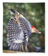 Woodpecker Wings Fleece Blanket