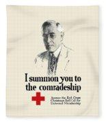 Woodrow Wison Red Cross Roll Call Fleece Blanket
