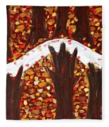 Woods In Autumn Fleece Blanket