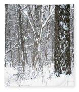 Woods In Winter Fleece Blanket