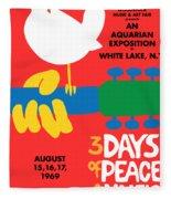Woodstock Fleece Blanket