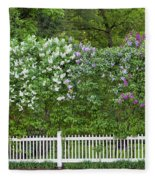 Woodstock Village Lilacs Fleece Blanket