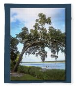 Woodstorks At Oak Grove Island Fleece Blanket