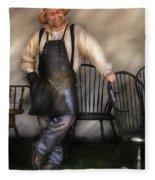 Woodworker - The Chair Maker  Fleece Blanket