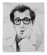 Woody Allen Fleece Blanket