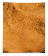 Wool Orange Fleece Blanket