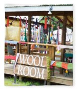 Wool Room 1 Fleece Blanket