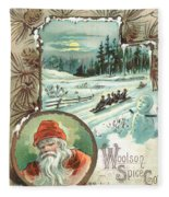 Woolson Spice Company Christmas Card Fleece Blanket