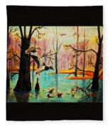 Wooodland Wonders Fleece Blanket