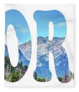 Word Art...  Colorado Fleece Blanket