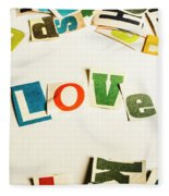 Word Of Love Fleece Blanket