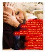 Words Fleece Blanket