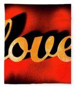 Words Of Love And Retro Romance Fleece Blanket