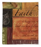 Words To Live By Faith Fleece Blanket