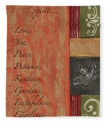 Words To Live By, Fruit Of The Spirit Fleece Blanket
