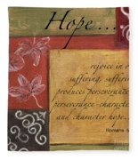 Words To Live By Hope Fleece Blanket