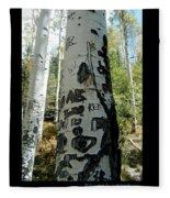 Words Written In The Trees 1 Fleece Blanket