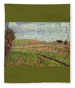 Working At Eragny 1886 Camille Pissarro Fleece Blanket