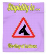 Working Bigstock Donkey 171252860 Fleece Blanket