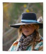 Working Cowgirl Fleece Blanket
