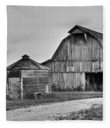 Working Farm Barn And Storage Bin Fleece Blanket