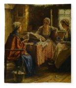 Working The Lace Fleece Blanket