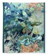 World In The Sea Fleece Blanket