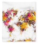 World Map 2033 Fleece Blanket