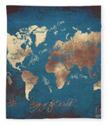 World Map 2065 Fleece Blanket