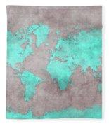 World Map 39 Fleece Blanket