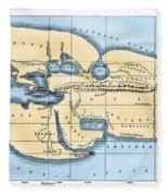 World Map: Eratosthenes Fleece Blanket